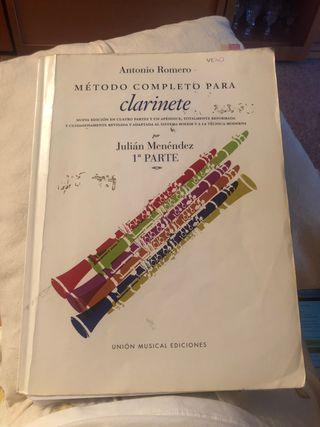 Método completo para clarinete antonio romero