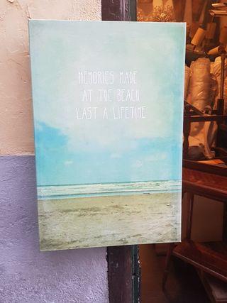 cartel cuadro vintage con frase