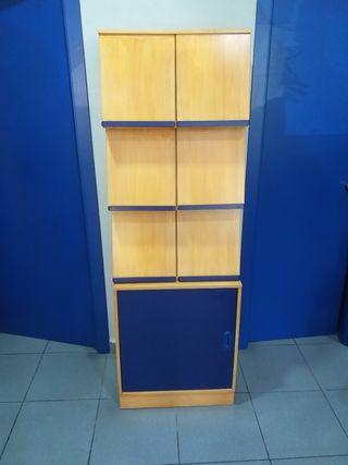 mueble cajonera con armario de puerta en base
