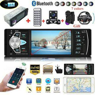 "Radio Pantalla 4"" Úniversal con Cámara, Bluetooth"