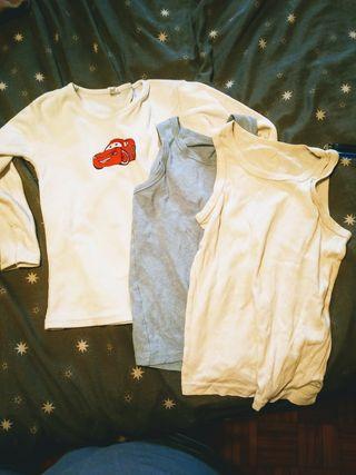 Camisetas interiores niño pack