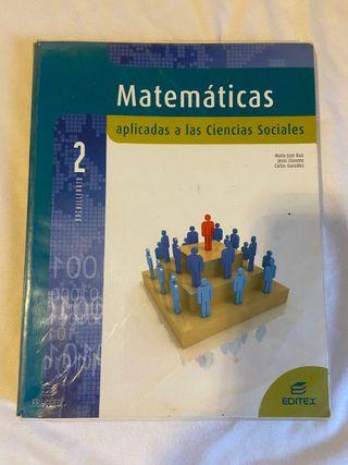 Libro Matematicas aplicadas 2 bachillerato