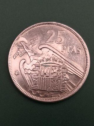 25 pesetas FRANCO 1957 *75