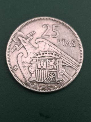 25 pesetas FRANCO 1957 *68