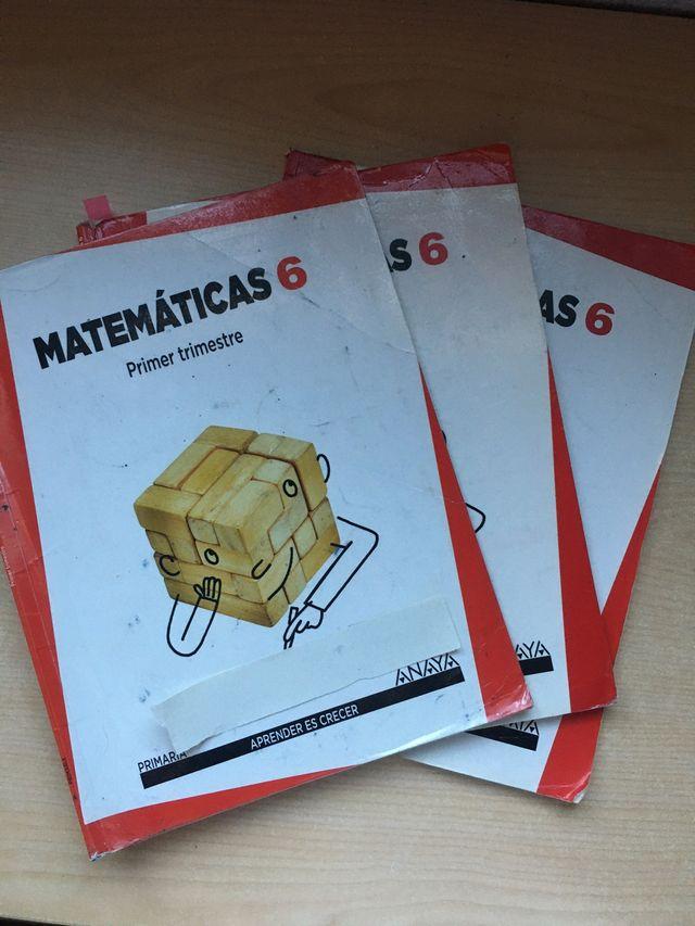 Libro matemáticas Anaya sexto de primaria