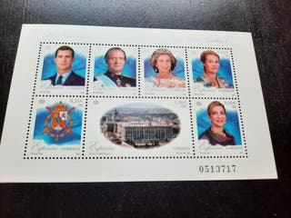 Sellos Familia Real 25 aniversario Rey Juan Carlos