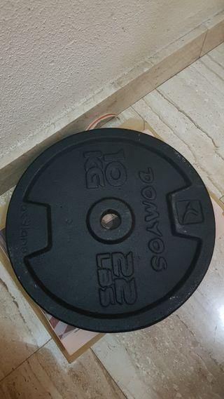 Dos discos pesas 10kg