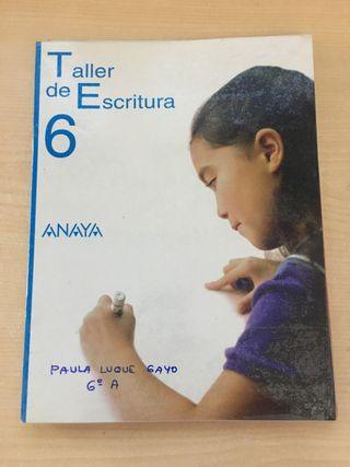 Taller de escritura de sexto de primaria Anaya