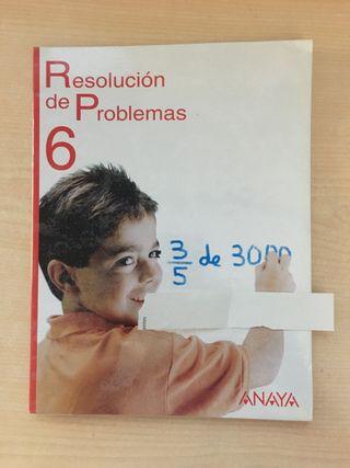 Libro resolución de problemas sexto de primaria