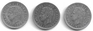 1 peseta España 1987 Juan Carlos I