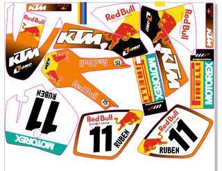 Kit de adhesivos KTM 50 SX