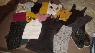 Lote ropa 7/8 años. Todo 35 euros.