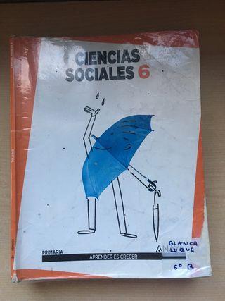 Libro ciencias sociales Anaya sexto de primaria
