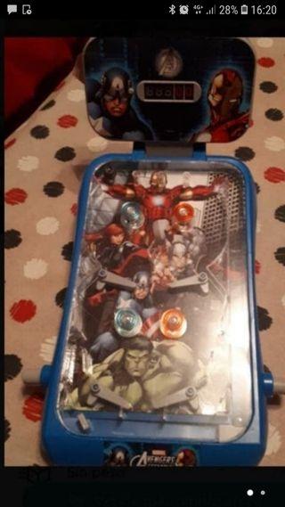 pinball superheroes, con música y con la caja en p