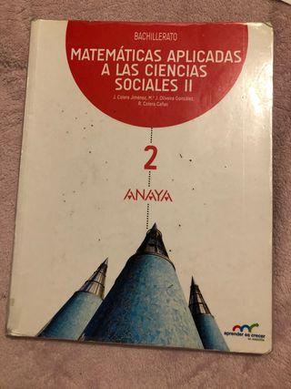 Libro Matemáticas aplicadas a las ccss 2 Bach