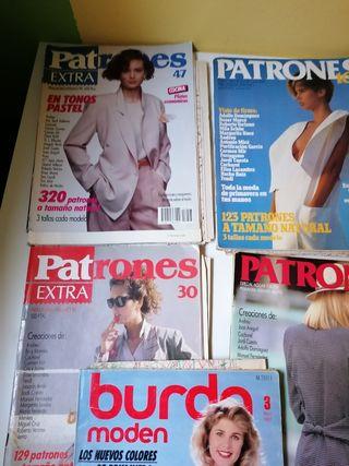 Lote de revistas de patrones antiguas. Envío 1 eur