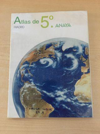 Libro Atlas de quinto de primaria