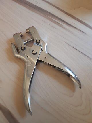 Herramienta perforadora de cinturones/cuero