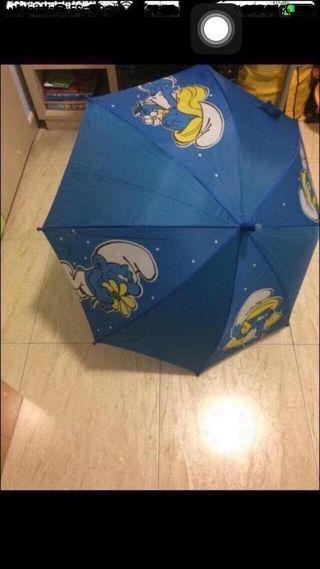 Paraguas de los Pitufos