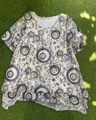 Blusa estampada talla XL