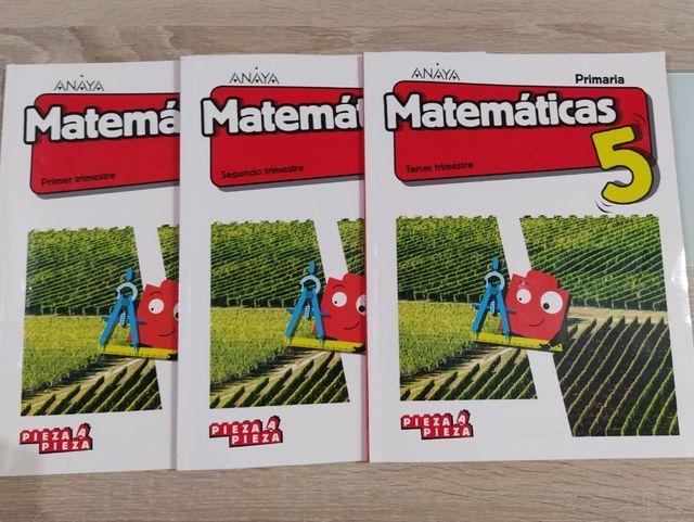 Libros de Texto matemáticas 5to de primaria