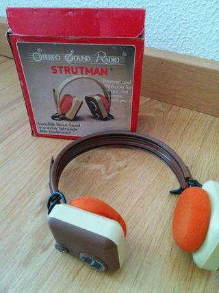Auriculares cascos radio antiguo vintage retro