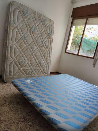 Somier base tapizada mas colchón 135x190