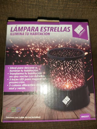 LAMPARA PROYECTORA ESTRELLAS NUEVA