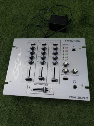 mesa de mezclas phonic dm 2010 3 canales