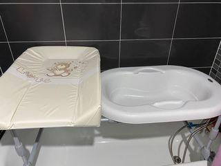 Bañera bebé para colocar en bañera con cambiador