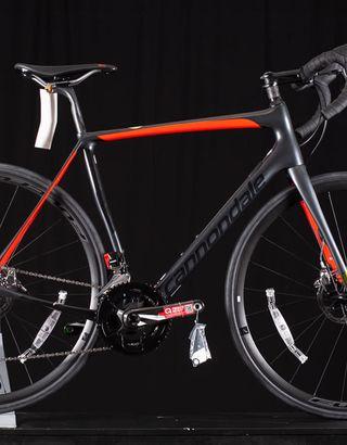 bicicleta cannondale synapse carbono disc red etap