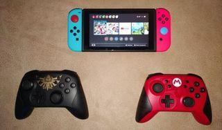 Nintendo Switch + 128 GB + 2 mandos + Juegos