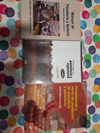 libros del grado medio de Panaderia y Repostería