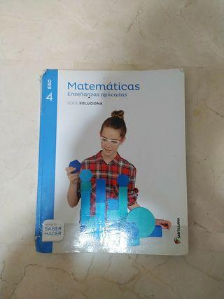 LIBRO MATEMÁTICAS APLICADAS 4°ESO