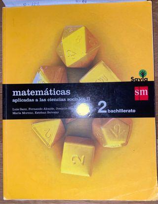 Libro Matemáticas Aplicadas a CCSS 2o bachiller