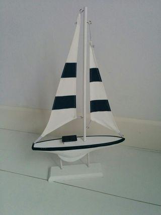 Barco velero madera decoración