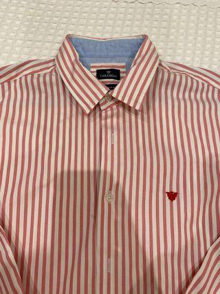Camisa de Hombre Caramelo talla L