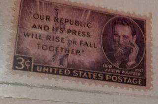 antiguo sello postal americano de 3 cents