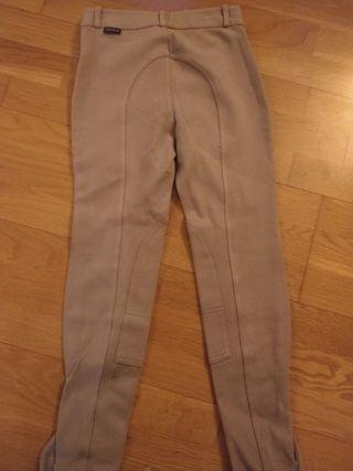 Pantalón hípica crudo. Talla:12 años.