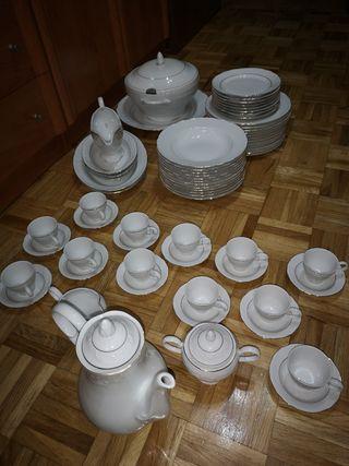 vajilla bavaria con juego de cafe