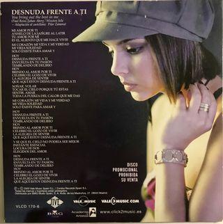 CD Single Chenoa. Desnuda frente a ti