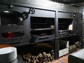Línea de asador hornos parrillas, mesas y mas