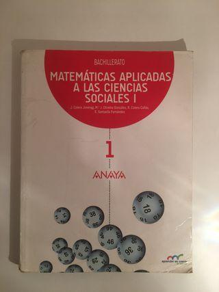 Libro Matemáticas Aplicadas a las CCSS 1Bach