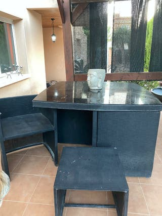 Conjunto mesa y sillas para jardín o terraza
