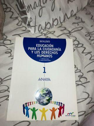 Educación para la Ciudadanía. 1°Bachillerato Anaya