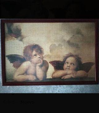 Cuadro de puzzle de angelitos.
