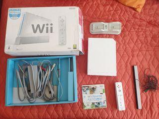 Consola Wii con caja mando y juego