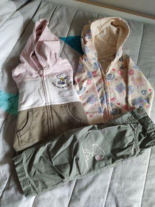 lote 2 sudaderas y pantalón bebé 9-12 meses