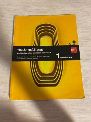 Libro Matemáticas aplicadas a ciencias sociales I