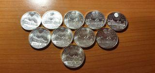 Monedas de 2000 pesetas de plata 1995